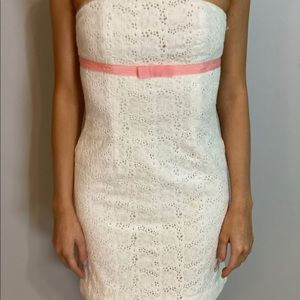 strapless white lace lilly pulitzer dress